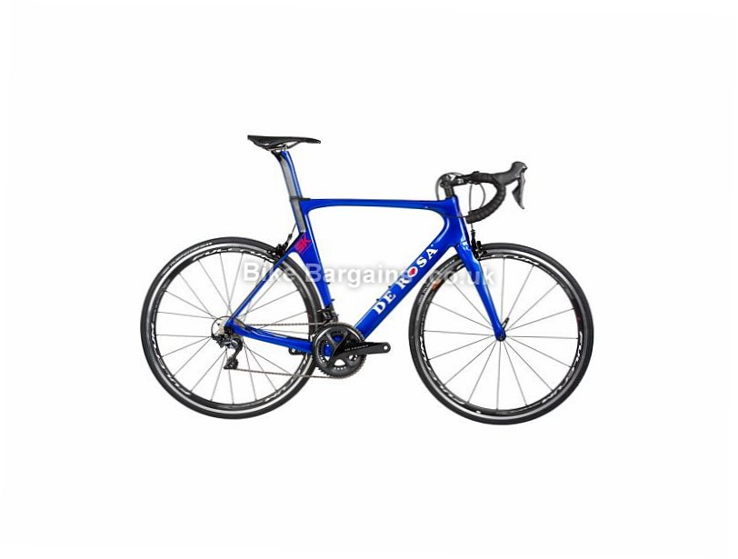 De Rosa SK Pininfarina Ultegra R8000 Carbon Road Bike 2017 50cm, Black, Blue, Carbon, Calipers, 11 speed, 700c