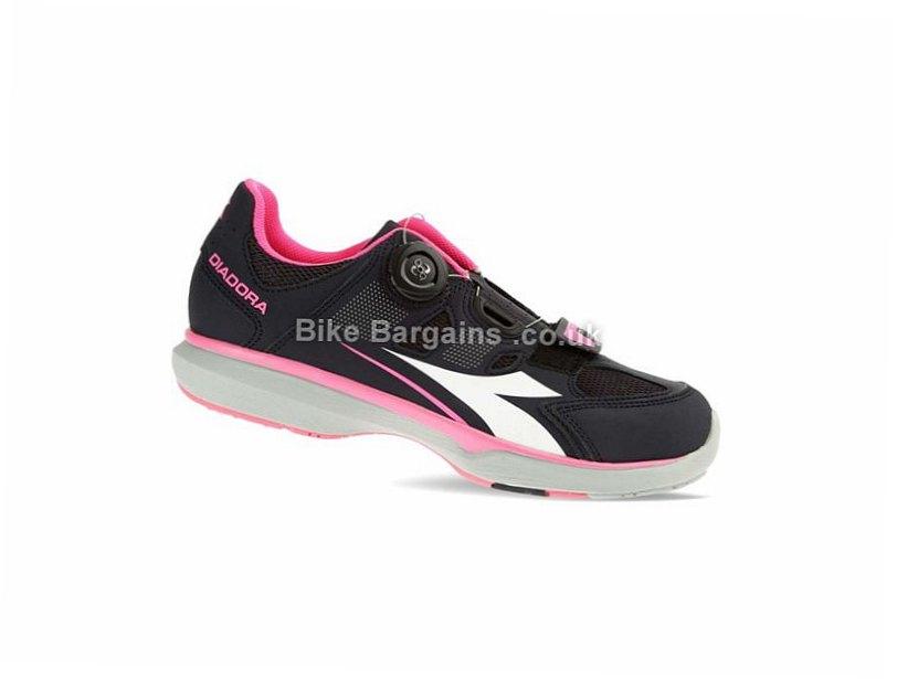 Diadora Gym W Ladies Casual Road Shoes 36, Black, Pink, Blue