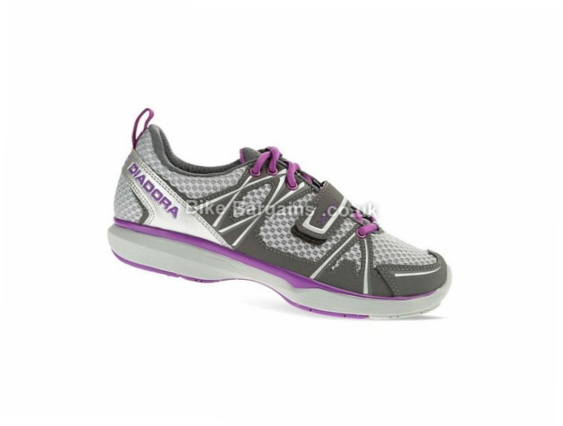 Diadora Herz W Ladies Casual Road Shoes 36,37,38,39,40,41,42, Grey, Purple