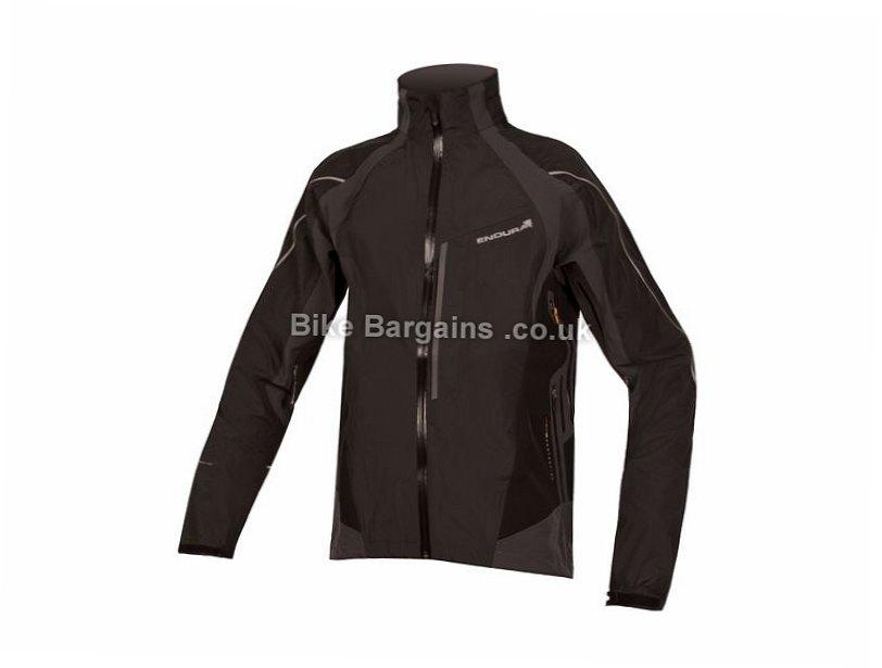 Endura Velo Waterproof Jacket 2017 S, Black, Men's, Long Sleeve
