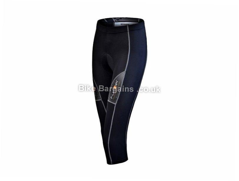 Funkier Ladies Active Knee Three Quarter Tights XS, Black