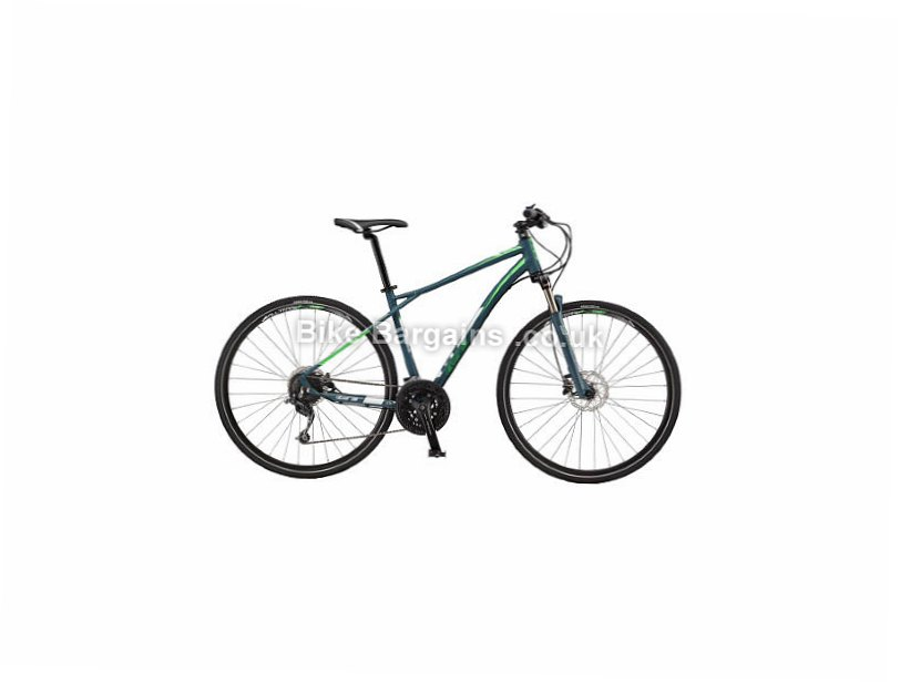 GT Transeo 1.0 Deore Alloy Hybrid City Bike 2017 S, Blue