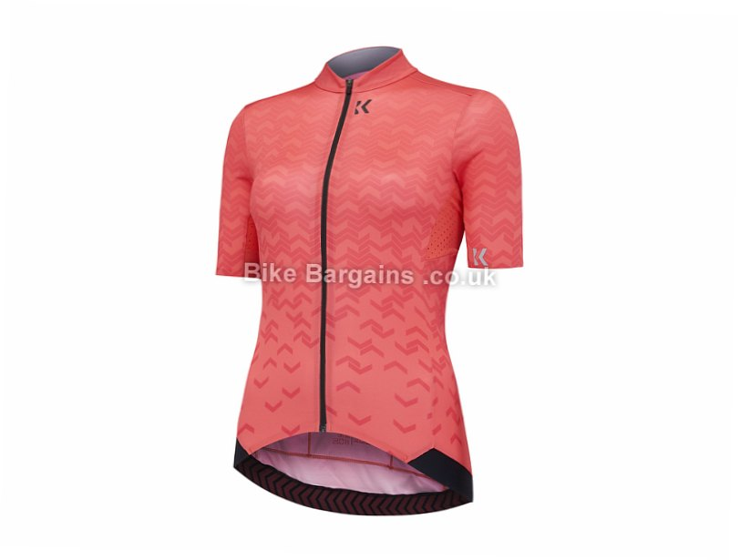 Kalf Flux Chevron Ladies Short Sleeve Jersey S,M,XL, Red