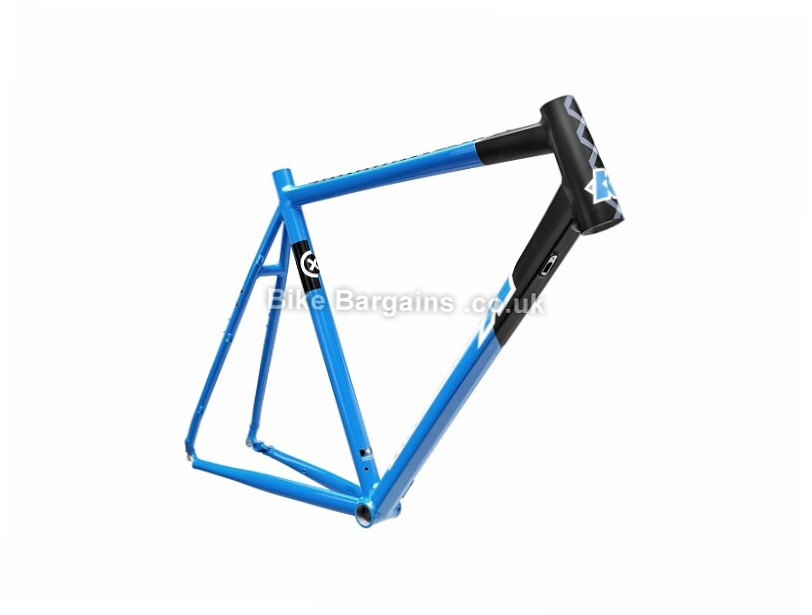 Kinesis CX RACE V1 Scandium Alloy Disc Cyclocross Frame 57cm, Black, Blue, Alloy, Disc, Caliper Brakes, 700c