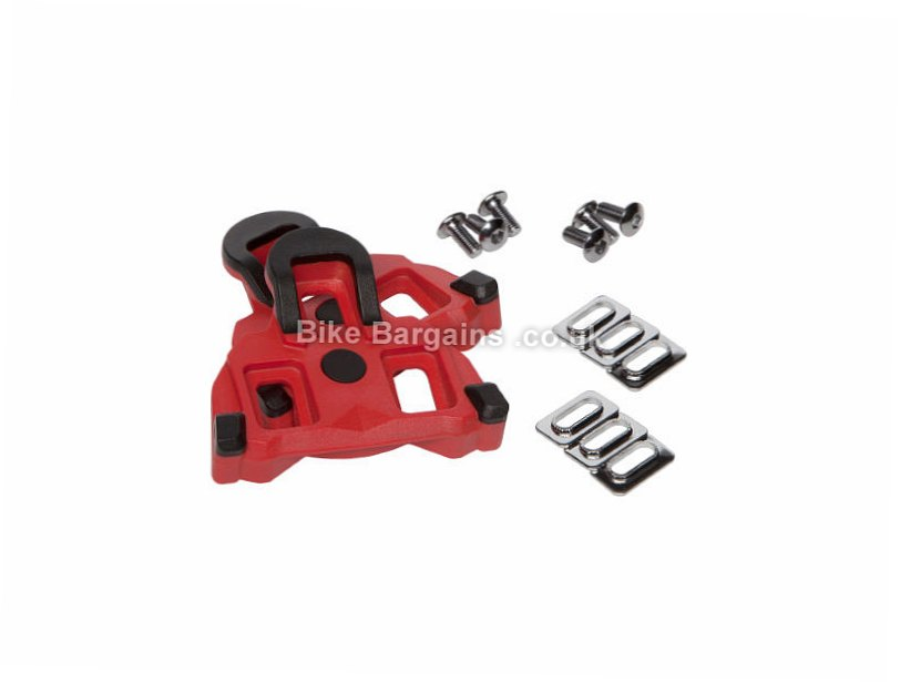 LifeLine Shimano Compatible Road Cleats Red, 4.5 Degrees