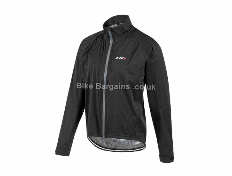 Louis Garneau Commit Waterproof Jacket 2015 S, Black, Yellow, Men's, Long Sleeve