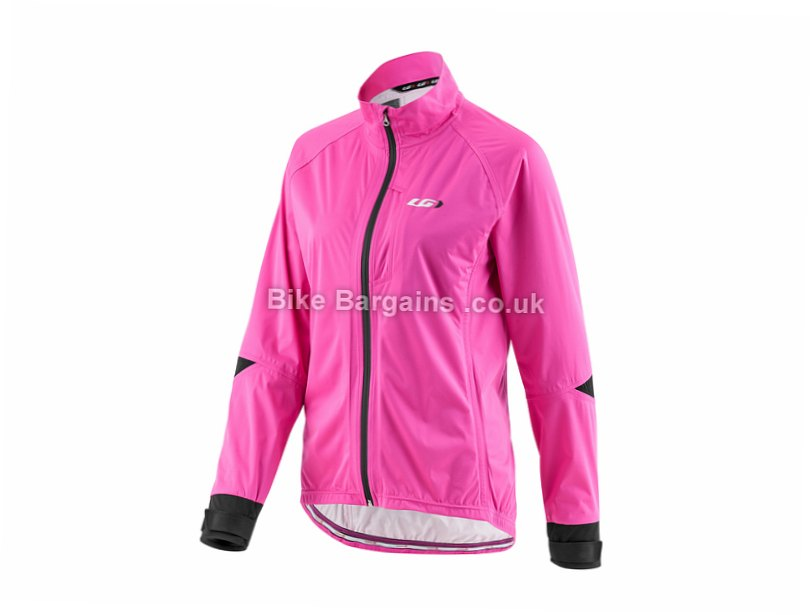 Louis Garneau Commit Ladies Waterproof Jacket 2015 L, Pink, Women's, Long Sleeve