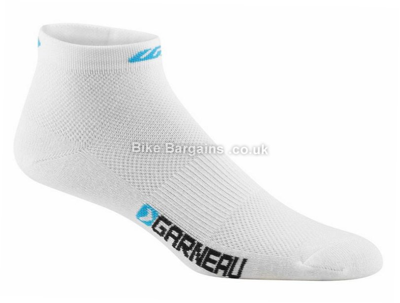 Louis Garneau Ladies Low Versis Socks 3 Pack L,XL, Black, White