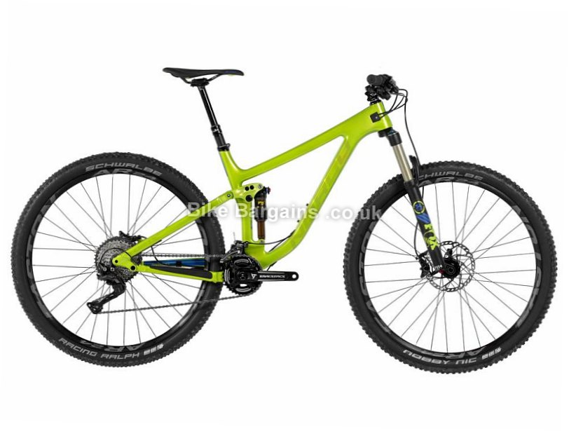 "Norco Optic C9.2 XT 29"" Carbon Full Suspension Mountain Bike 2017 XL, Green, 29"", 12.25kg"