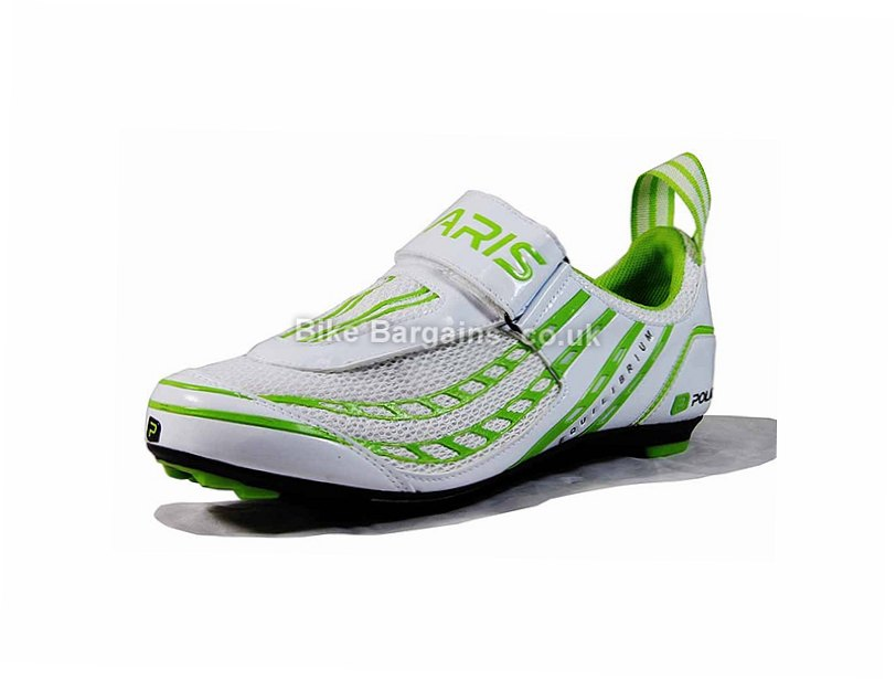 Polaris Equilibrium Triathlon Shoes 44,45,46,47,48, White, Green