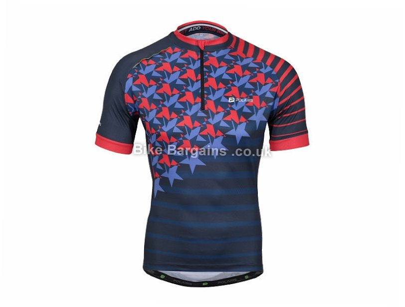 Polaris Infinity Road Short Sleeve Jersey S, Blue, Red