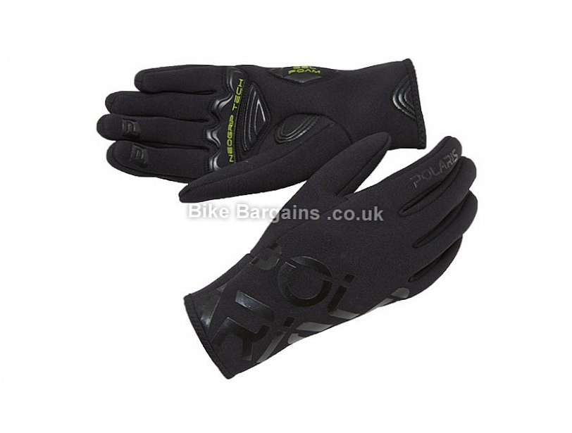 Polaris Loki Neoprene Winter Full Finger Gloves S,M,XL, Black, Full Finger, Gel, Neoprene