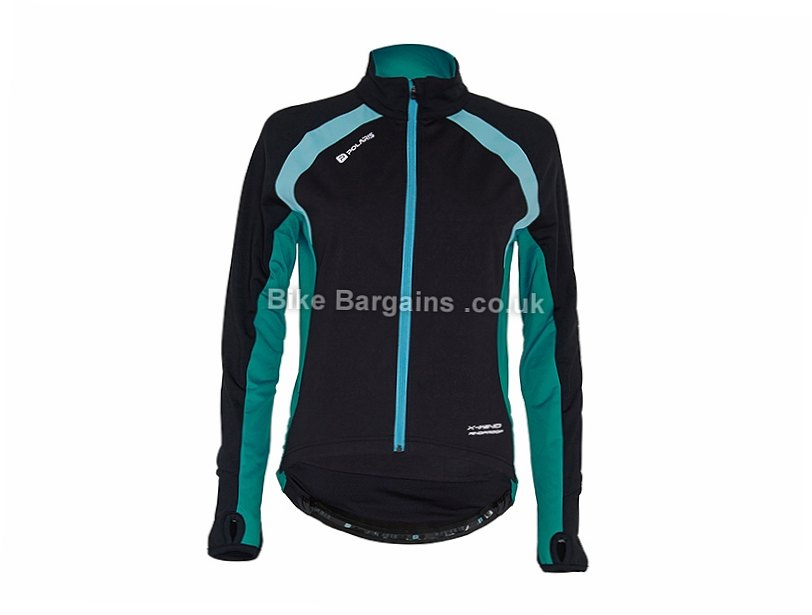 Polaris Mica Windproof Long Sleeve Jersey 8,10,12,14,16, Black, Green, Red