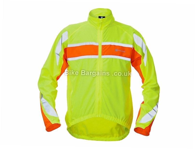 Polaris RBS Windproof Commuter Jacket S,M,L, Orange, Yellow, Men's, Long Sleeve