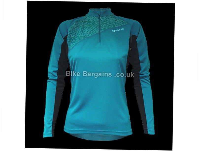 Polaris Siren Ladies MTB Long Sleeve Jersey 8,10,12,14,16, Purple, Turquoise