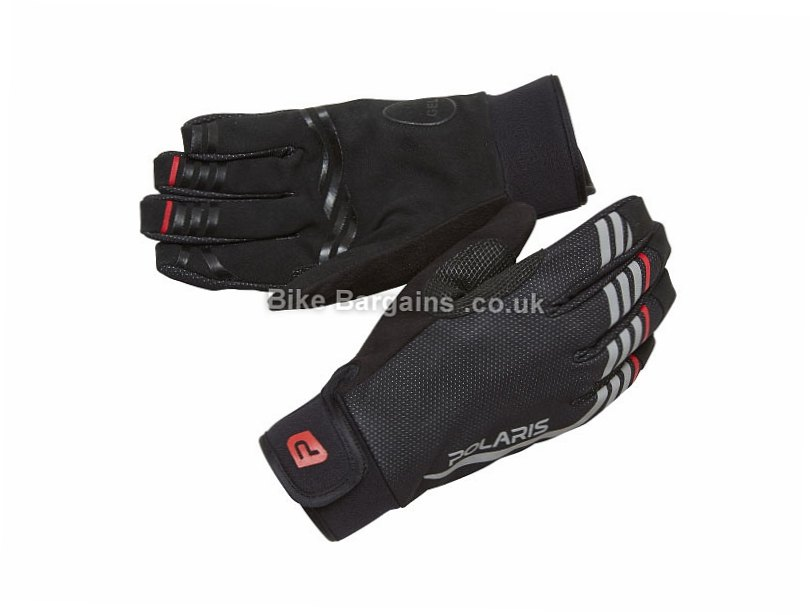 Polaris Tornado Blitz Winter Full Finger Gloves S,M,L,XL, Black, Full Finger, Fleece, Neoprene