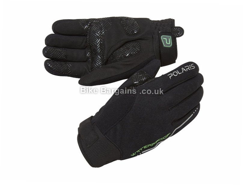 Polaris Torrent Waterproof Winter Full Finger Gloves S,M,L,XL, Black, Full Finger, Gel, Neoprene