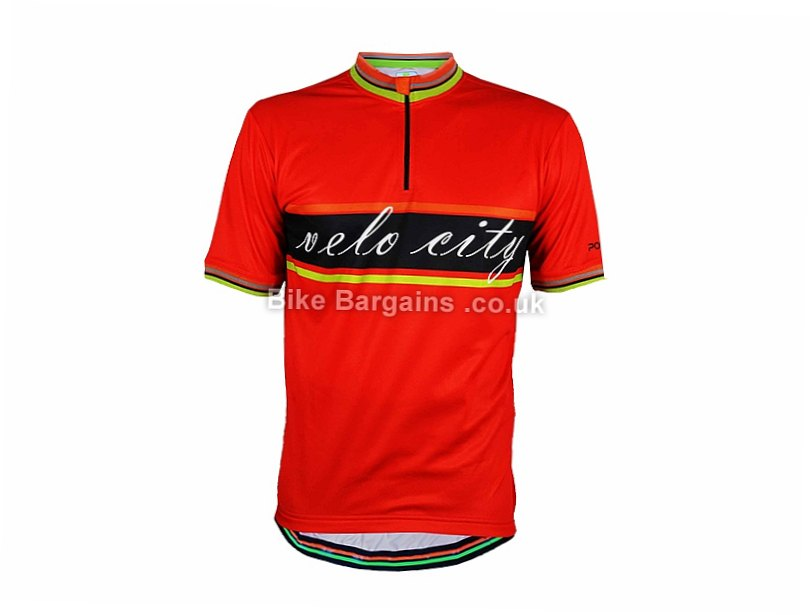 Polaris Velo City Short Sleeve Jersey S,M,XL,XXL, Red, White