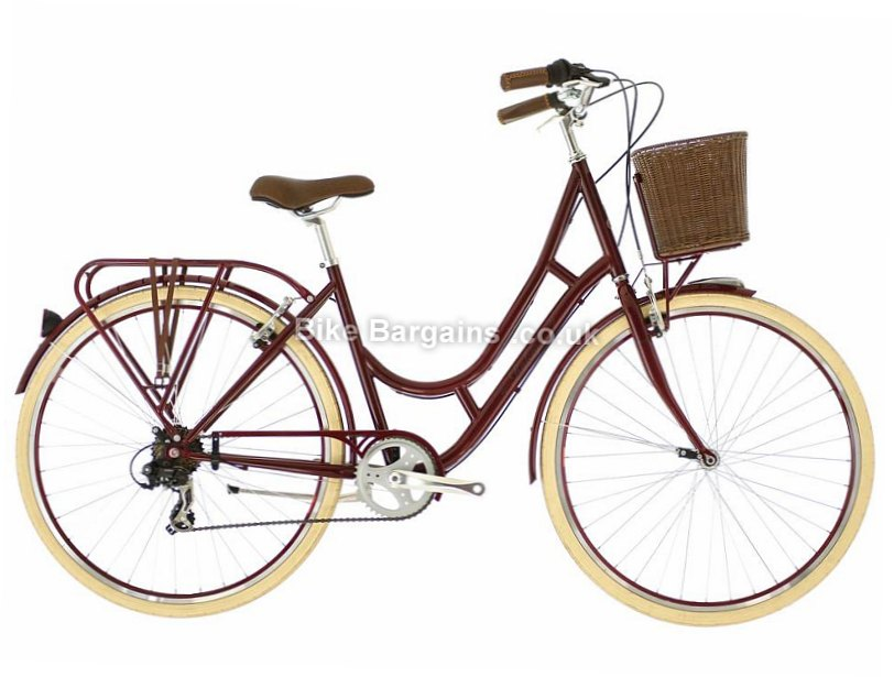 "Raleigh Cameo Ladies Tourney Steel Hybrid City Bike 2017 19"", Red, Green"