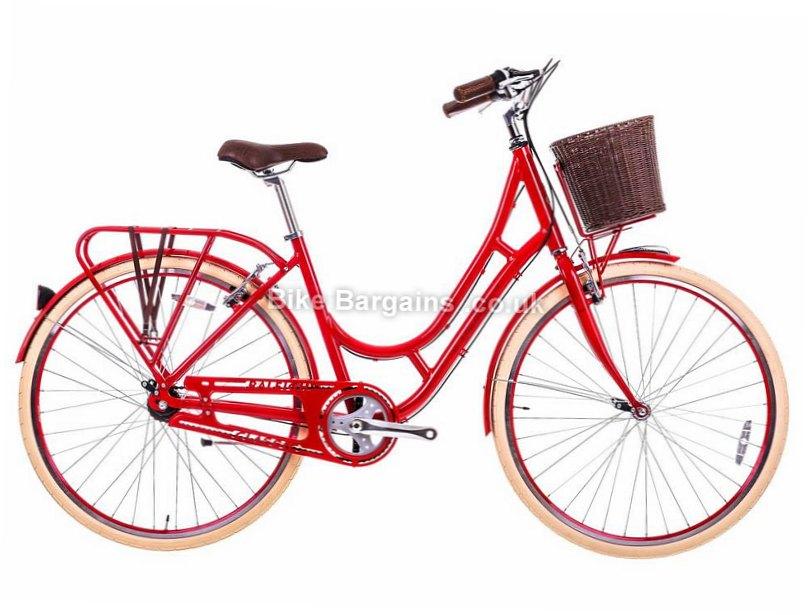 """Raleigh Spirit Ladies Steel Hybrid City Bike 2017 19"""", Red, Grey"""