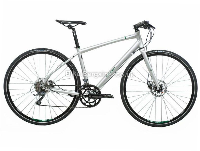 "Raleigh Strada 5 Claris Alloy Hybrid City Bike 2017 18"", Silver"