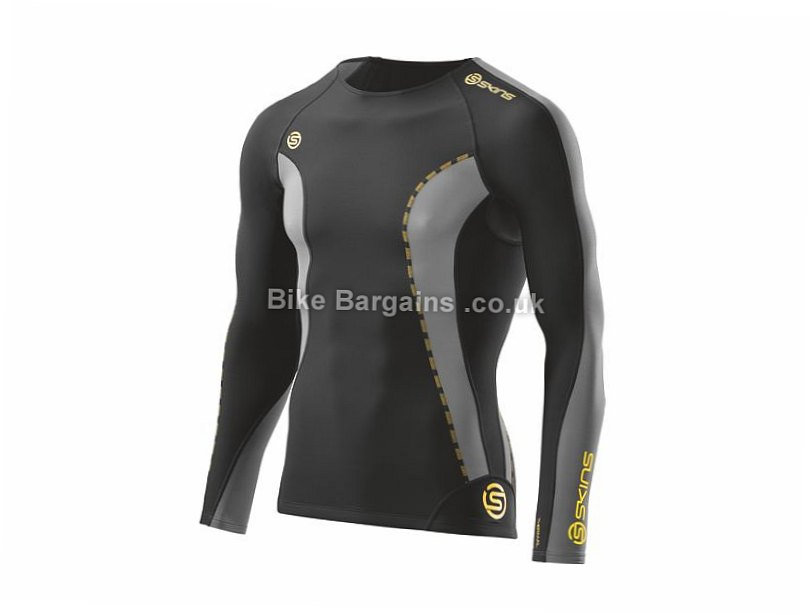 Skins DNAmic Thermal Round Neck Long Sleeve Baselayer S, Black, Purple