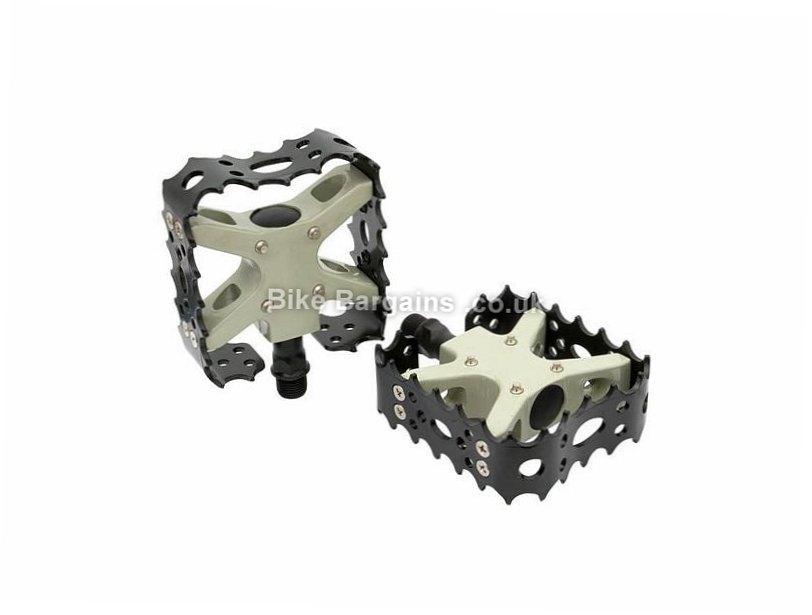 Wellgo Bear Trap MG-26 Flat Platform Pedals Black, Magnesium, 440g