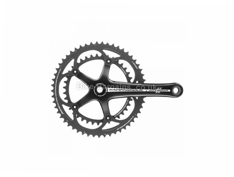 Campagnolo Athena Power-Torque 11 speed Alloy Road Chainset 72.5mm, Black, 11 speed, Alloy, 736g
