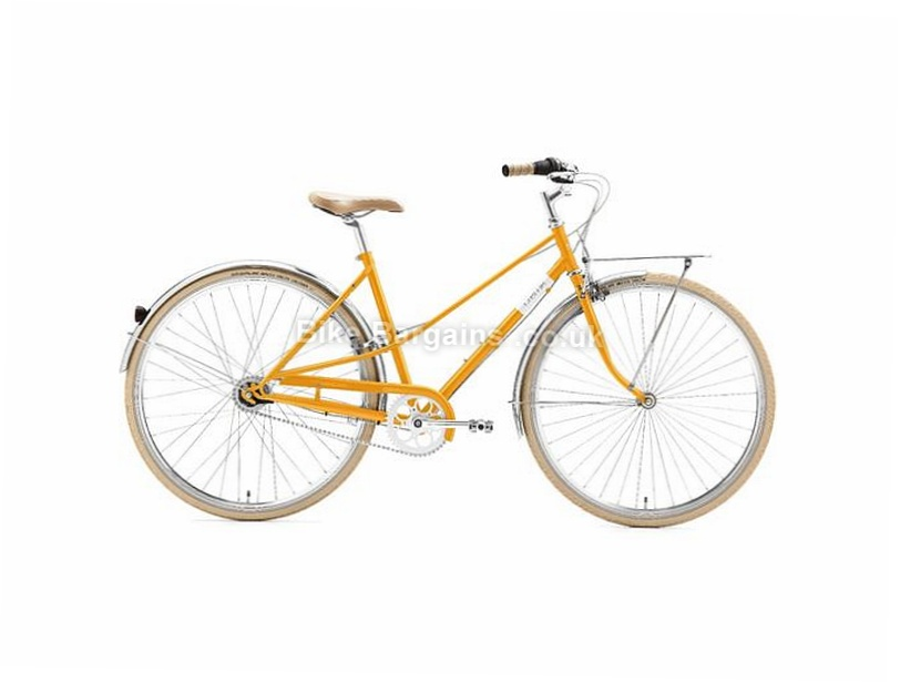 Creme CafeRacer Uno Ladies 3 Speed Steel Hybrid City Bike 2017 44cm, Pink, Turquoise, Yellow, Steel, 700c, 3 Speed, Calipers, Hardtail