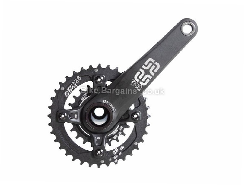 E Thirteen TRS AM Double 10 speed Alloy MTB Chainset 175mm, Black, Alloy, 10 speed, Double Chainring, MTB, 665g