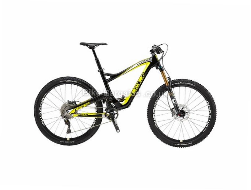 "GT Sensor Carbon Team Full Suspension Mountain Bike 2017 S, Black, Yellow, 27.5"""