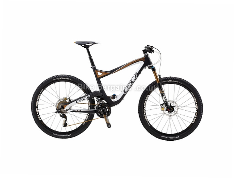 "GT Sensor Team 27.5"" Carbon Full Suspension Mountain Bike 2017 XL, Black, White, 27.5"""