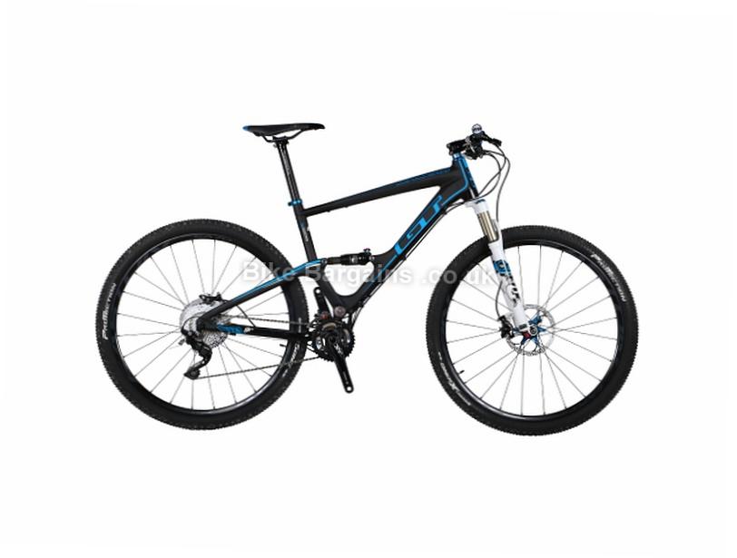 "GT Zaskar 100 9R Pro Carbon Full Suspension Mountain Bike 2017 L, Black, White, 29"""