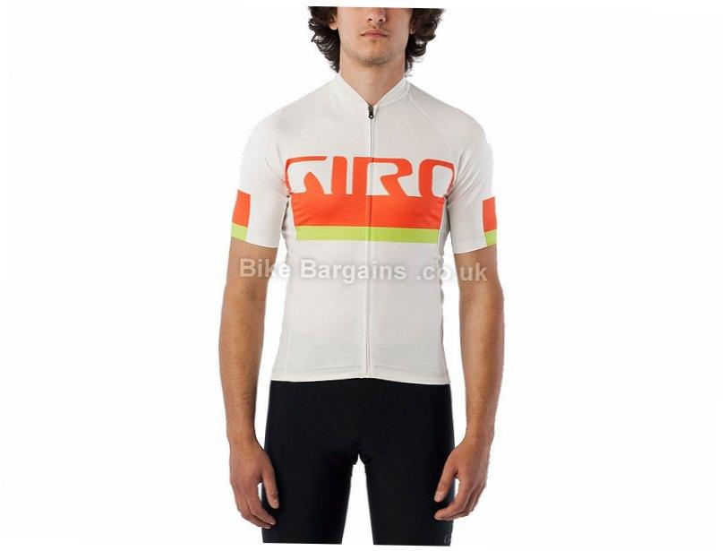 Giro Chrono Expert Short Sleeve Jersey 2016 XXL, White, Orange