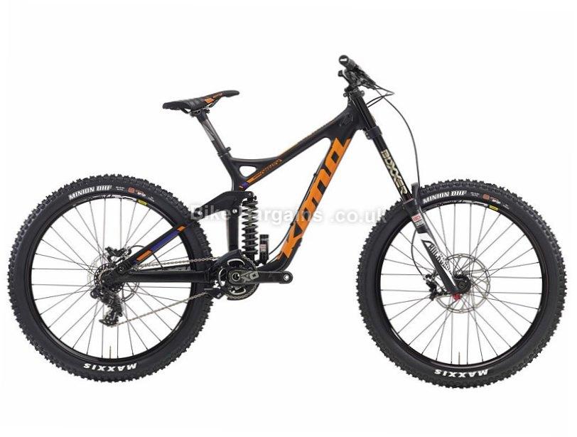 "Kona Supreme Operator DH 26"" Carbon Full Suspension Mountain Bike 2016 S, Black"
