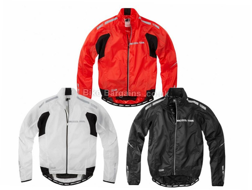 Madison Sportive Stratos Showerproof Jacket L, Black, Men's, Long Sleeve