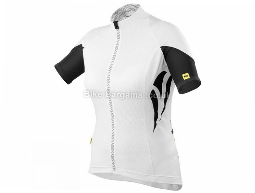 Mavic Ventoux Ladies Short Sleeve Jersey M,L,XL, White, Black
