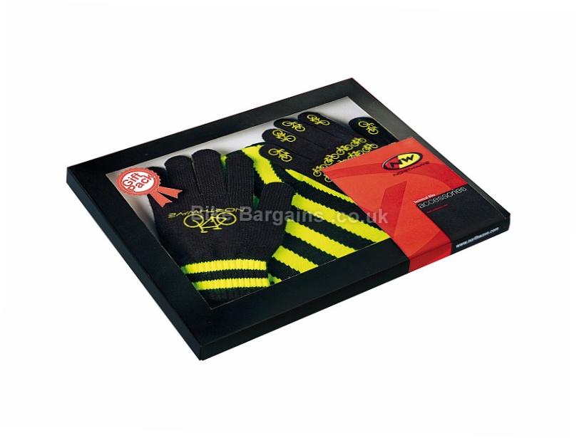 Northwave Beanie Gloves Gift Pack M, Black, White, Full Finger