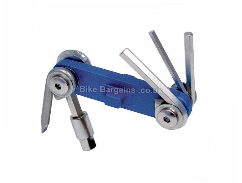Park Tool IB-2C I-Beam Mini Fold-Up Multi Tool 8 tools, Blue, Silver