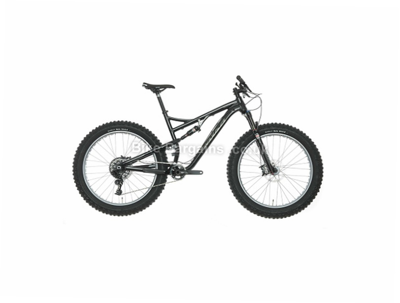 "Salsa Bucksaw GX1 26"" Alloy Full Suspension Fat Mountain Bike 2016 M, Black, 26"", Alloy"