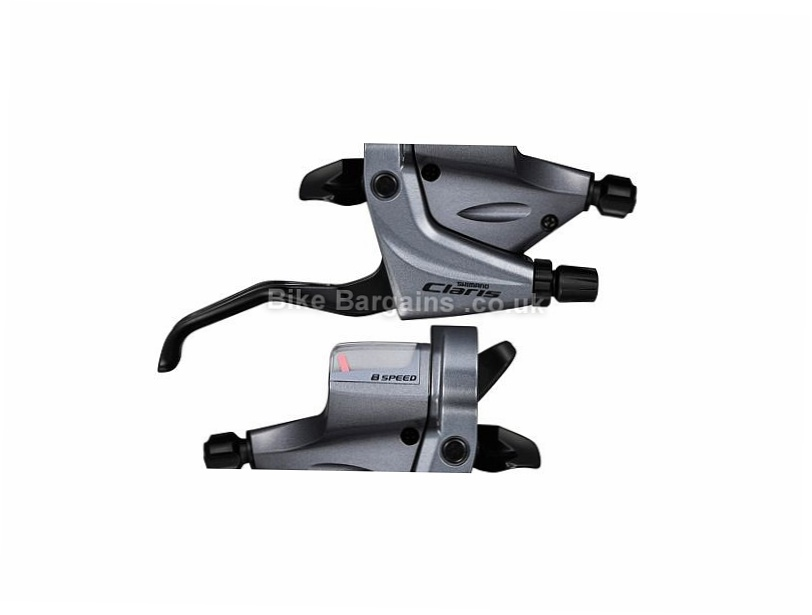 Shimano Claris R240 8 speed Brake Gear Shifter Set Silver, Pair, Double, 8 speed, Cable brakes