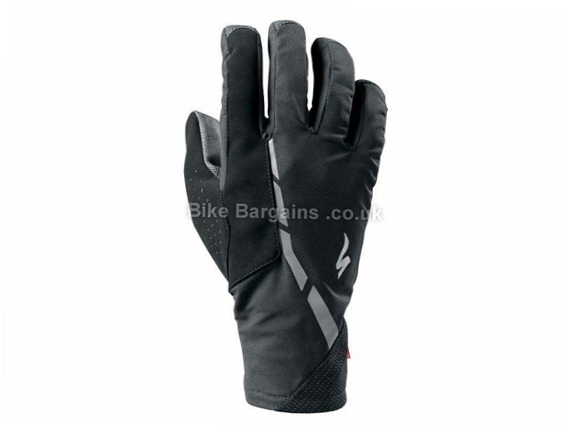 Specialized Deflect H2o Waterproof Full Finger Gloves 2015 S, Black, Full Finger