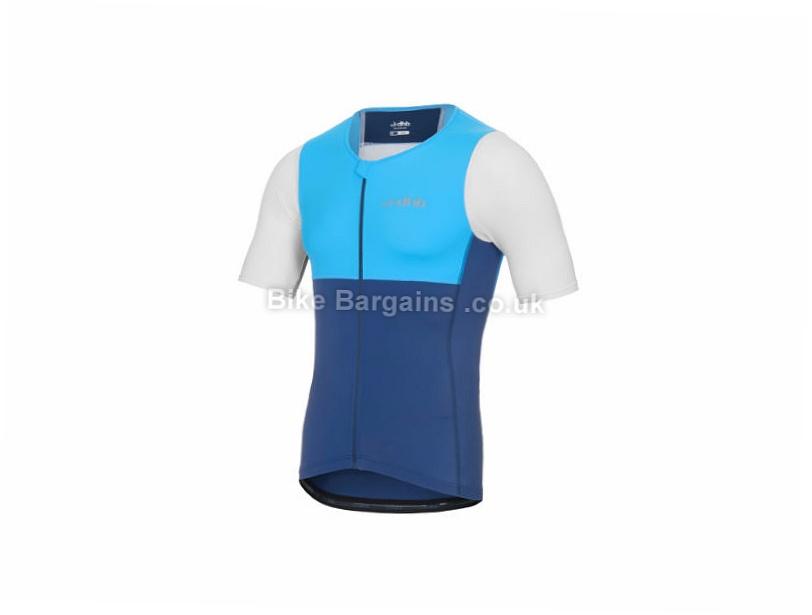 dhb Classic Short Sleeve Triathlon Jersey S, Blue