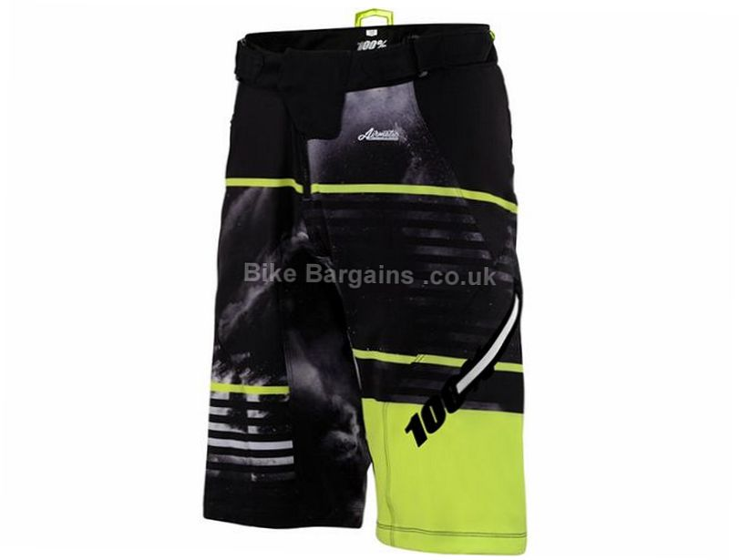 100% Airmatic Dusted Baggy MTB Shorts 28, Green