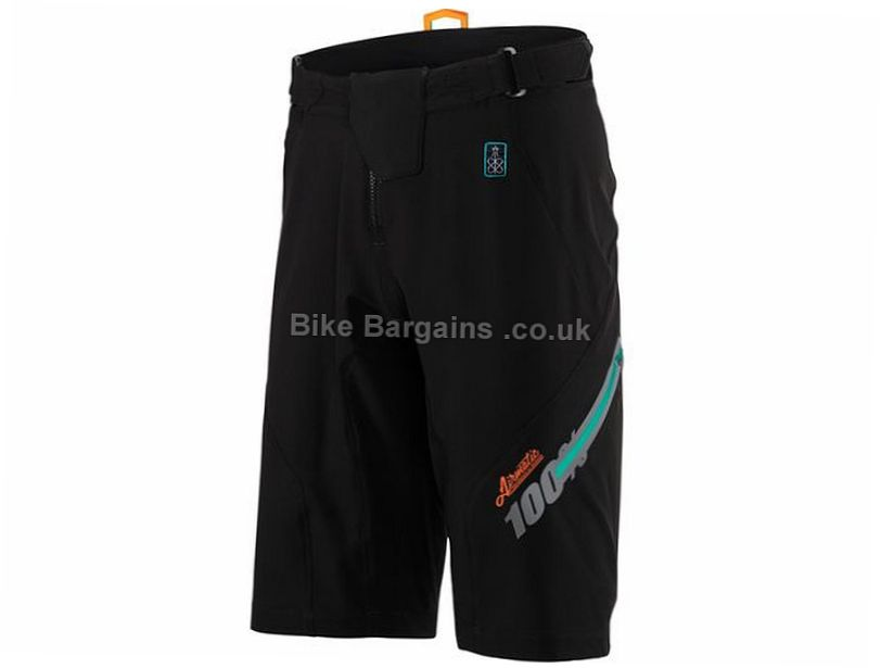 100% Airmatic Fast Times Baggy MTB Shorts 28, 30, 38, Blue