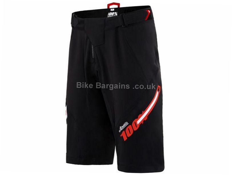 100% Airmatic Jeromino Baggy MTB Shorts 28, 32, 38, Black