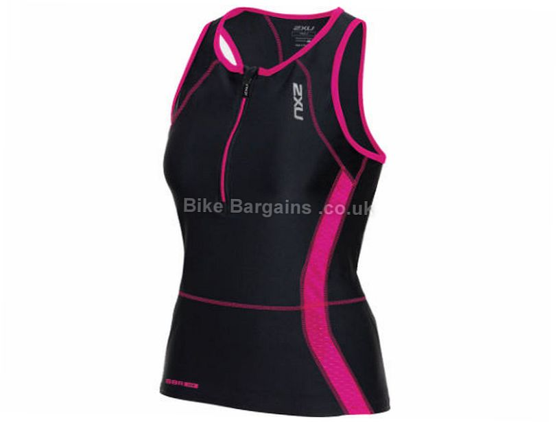 2XU Ladies Perform Triathlon Singlet XS,S,M,L,XL, Black, Pink