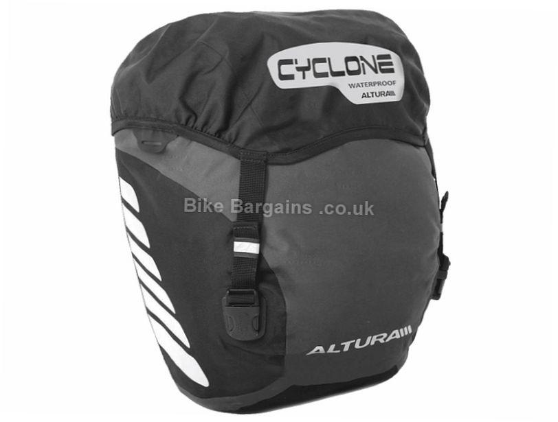 Altura Cyclone 20 Litre Waterproof Pannier Bag Black, 20 Litres