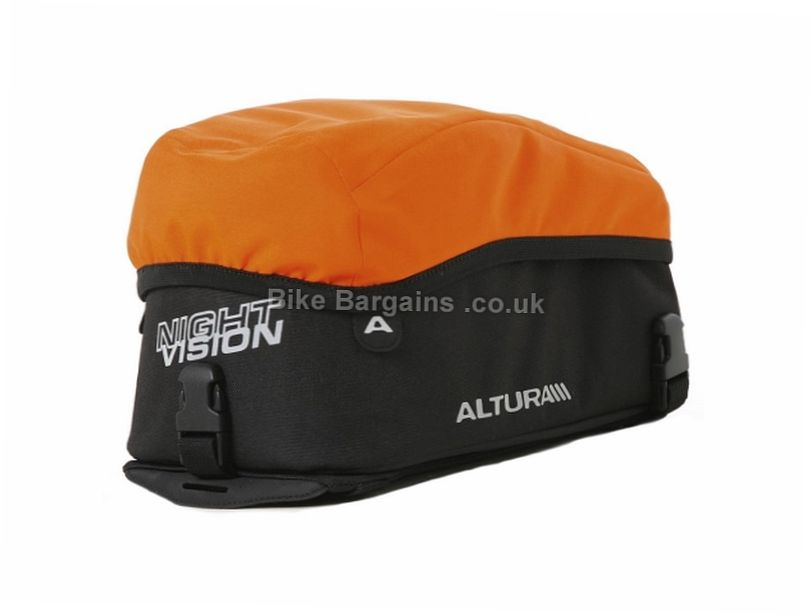 Altura Night Vision Rack Pack Bag 7 Litres, Black, Orange