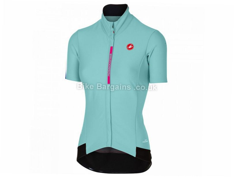 Castelli Gabba 2 Short Sleeve Ladies Jacket 2017 XS,S,M,L - some are slightly extra, Black, Red, Women's, Short Sleeve